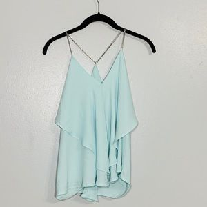 Charlotte Russe Blouse with Metal Chain Straps